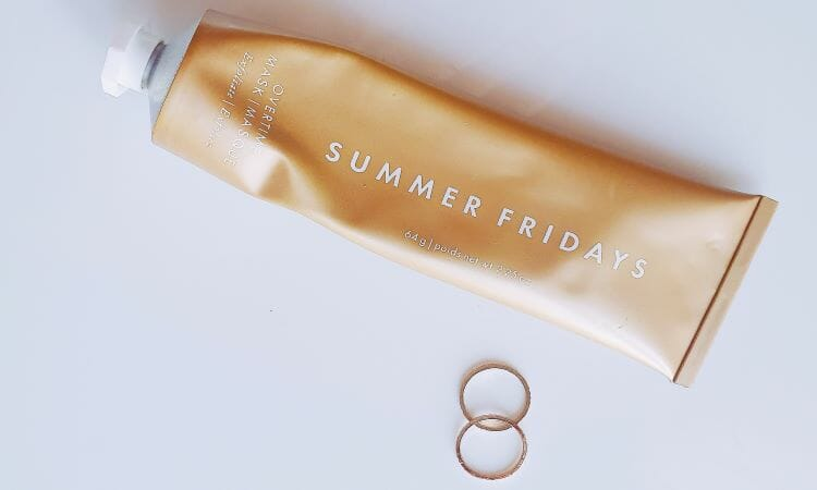 Summer Fridays Overtime mask packaging